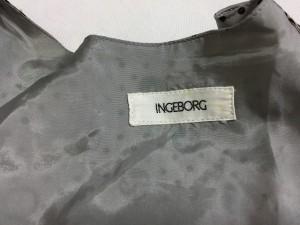 インゲボルグ INGEBORG ワンピース レディース 美品 グレー×黒 ドット柄【中古】