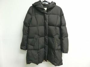 エフデ ef-de ダウンコート サイズ13 L レディース 美品 黒 冬物【中古】