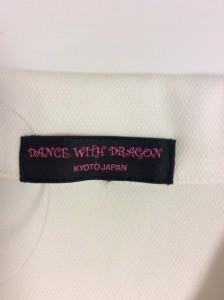 ダンスウィズドラゴン DANCE WITH DRAGON 半袖ポロシャツ サイズ3 L レディース 美品 白×レッド×イエロー ラインストーン【中古】