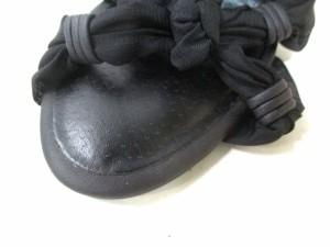 リエンダ rienda サンダル S レディース 美品 黒 化学繊維×合皮【中古】