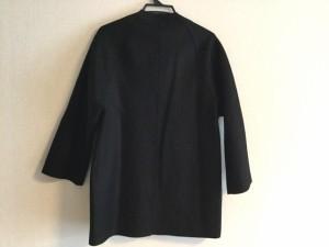 ハリスワーフロンドン HARRIS WHARF LONDON コート サイズ40 M レディース 美品 黒 切りっぱなし加工【中古】
