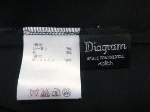 ダイアグラム Diagram ワンピース サイズ36 S レディース 黒×アイボリー【中古】