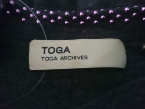 トーガ TOGA 長袖セーター サイズ1 S レディース 美品 ダークグレー×グレー×パープル スタッズ/リボン【中古】