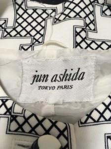 ジュンアシダ JUN ASHIDA ワンピース サイズ7 S レディース アイボリー×ネイビー シャツワンピ【中古】
