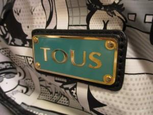 トウス TOUS ショルダーバッグ 白×黒×マルチ PVC(塩化ビニール)×レザー【中古】