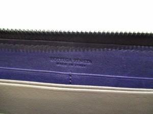 ボッテガヴェネタ 長財布 美品 イントレチャート B00985164X パープル※実物よりも青みが強く写っています ラウンドファスナー【中古】