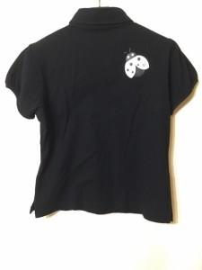 ミエコウエサコ MIEKO UESAKO 半袖ポロシャツ サイズ40 M レディース 黒 SPORTS【中古】