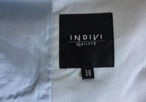 インディビ INDIVI スカートスーツ サイズ38 M レディース ライトグレー【中古】