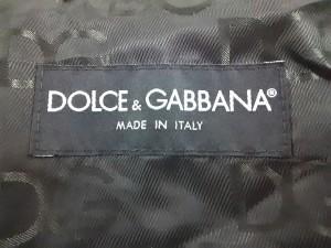 ドルチェアンドガッバーナ DOLCE&GABBANA ブルゾン サイズ50 M メンズ 黒 シープレザー/春・秋物【中古】