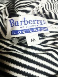 バーバリーブルーレーベル Burberry Blue Label パーカー サイズM レディース 白×黒 ボーダー【中古】