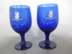 ザリッツカールトン The Ritz-Carlton ペアグラス 新品同様 ブルー×ゴールド ガラス【中古】