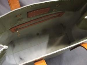 ルイヴィトン ハンドバッグ モノグラムヴェルニ リードPM M91145 グリ パテントレザー(モノグラムの型押し)・レザー【中古】