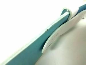 ポールスミスブラック PaulSmith BLACK ベルト 白×ライトブルー×マルチ レザー×金属素材【中古】