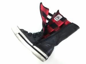アッシュ ASH ブーツ 36 レディース 黒×白 スニーカーブーツ レザー【中古】