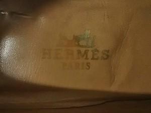 エルメス HERMES パンプス 36 レディース 黒×ゴールド Hゴールド金具 レザー×金属素材【中古】