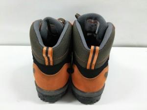 キャラバン ショートブーツ EEE レディース ダークグリーン×オレンジ×グレー GORE-TEX 化学繊維×スエード×ヌバック【中古】