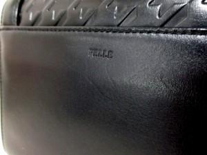 ペレボルサ PELLE BORSA ハンドバッグ 美品 黒 型押し加工/千鳥格子 レザー【中古】