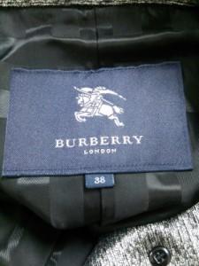 バーバリーロンドン Burberry LONDON トレンチコート サイズ38 L レディース ライトグレー×黒 春・秋物【中古】