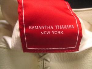 サマンサタバサニューヨーク Samantha Thavasa New York トートバッグ アイボリー レザー【中古】