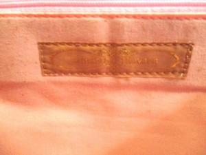 サマンサタバサ Samantha Thavasa トートバッグ 白×ダークブラウン×ピンク ビジュー ウール【中古】