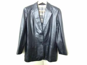 バーバリーロンドン Burberry LONDON ジャケット サイズ40 L レディース 美品 黒 ラムレザー【中古】