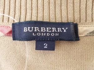 バーバリーロンドン Burberry LONDON 半袖セーター サイズ2 M レディース ベージュ【中古】