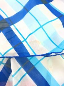 マーキュリーデュオ MERCURYDUO チュニック サイズF レディース 美品 アイボリー×ブルー×ライトブルー チェック柄/フリル【中古】