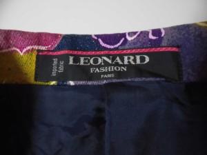 レオナール LEONARD ジャケット サイズ9AR S レディース ネイビー×マルチ 肩パッド/花柄【中古】