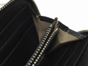 ダイアン・フォン・ファステンバーグ 長財布 ライトブラウン×黒×アイボリー ラウンドファスナー PVC(塩化ビニール)×レザー【中古】