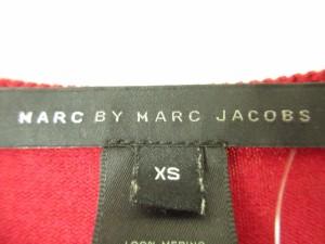 マークバイマークジェイコブス MARC BY MARC JACOBS カーディガン サイズXS レディース レッド×ボルドー【中古】