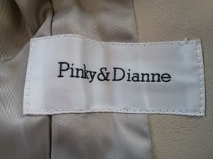 ピンキー&ダイアン Pinky&Dianne コート サイズ38 M レディース アイボリー ロング丈/レザー/冬物【中古】