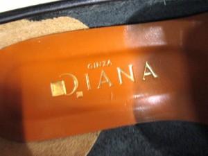 ダイアナ DIANA パンプス 21 1/2 レディース 黒 型押し加工 レザー【中古】
