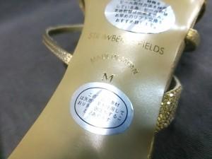 ストロベリーフィールズ STRAWBERRY-FIELDS ミュール M レディース ゴールド ビジュー/grace エナメル(レザー)×グリッター【中古】