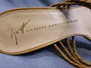 ジュゼッペザノッティ giuseppe zanotti サンダル 36 レディース 美品 ブラウン×ダークブラウン×ゴールド ウェッジソール【中古】