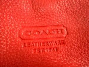 コーチ COACH ハンドバッグ - - レッド レザー【中古】