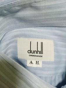 ダンヒル dunhill/ALFREDDUNHILL 長袖シャツ メンズ 美品 ブルー ストライプ/オーダーメイド【中古】