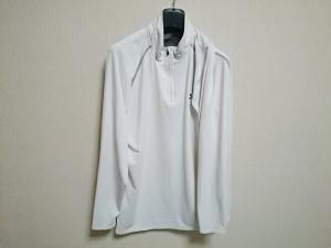 アンダーアーマー UNDER ARMOUR 長袖カットソー サイズXL メンズ 美品 白×グレー【中古】