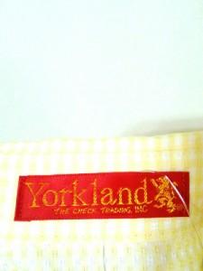 ヨークランド YORKLAND ワンピース サイズ7AR S レディース 美品 イエロー×白 シャツワンピ/ノースリーブ【中古】