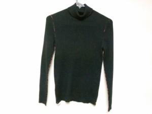 ポールスミスプラス Paul+ 長袖セーター サイズM レディース 美品 黒×ピンク タートルネック【中古】