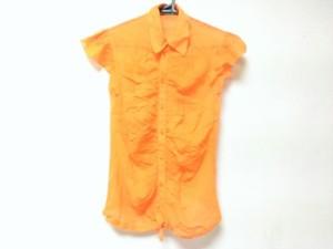 ゴルチエ JeanPaulGAULTIER 半袖シャツブラウス サイズ40 M レディース 美品 オレンジ シースルー【中古】