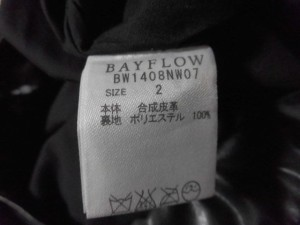 ベイフロー BAYFLOW ロングスカート サイズ2 M レディース 新品同様 黒 プリーツ【中古】