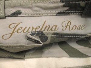 ジュエルナローズ Jewelna Rose トートバッグ カーキ×ベージュ×ダークグリーン 迷彩柄 コットン×スパンコール【中古】