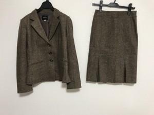 ボッシュ BOSCH スカートスーツ レディース 美品 ブラウン ツイード【中古】