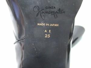 ギンザカネマツ GINZA Kanematsu レインブーツ 25 レディース 黒 エナメル(合皮)【中古】