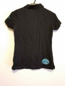 パーリーゲイツ PEARLY GATES 半袖ポロシャツ サイズサイズ 0 レディース 黒×ライトブルー×マルチ 刺繍【中古】
