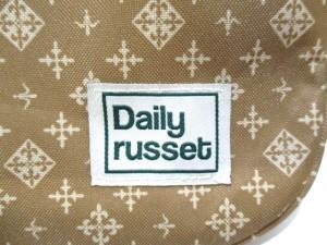 デイリーラシット Daily russet ショルダーバッグ 美品 ベージュ×アイボリー ナイロンジャガード【中古】