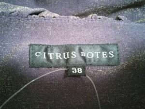 シトラスノーツ CITRUS NOTES 半袖カットソー サイズ38 M レディース 新品同様 パープル×ゴールド【中古】