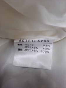 メルローズ MELROSE ワンピース サイズ3 L レディース 新品同様 白×ブラウン チェック柄【中古】