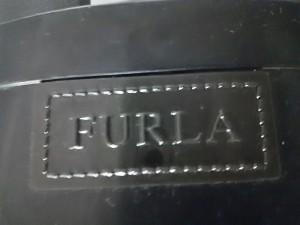 フルラ FURLA レインブーツ 37 レディース 黒 ラバー【中古】