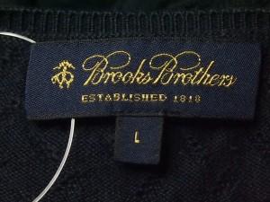 ブルックスブラザーズ BrooksBrothers 七分袖セーター サイズL レディース ネイビー【中古】